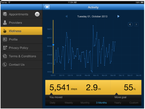 Exercise data available from Jawbone Up.